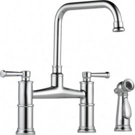Brizo 62525LF Two Handle Bridge Kitchen Faucet with Spray