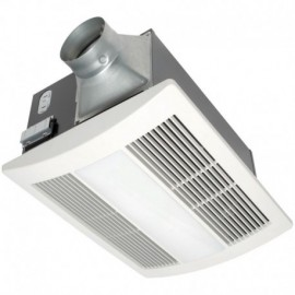 Panasonic FV-11VHL2 110 CFM: 30.6 Watt Fan 1400 Watt Heater 2 18-Watt CFL 1 4-Watt Nightlight 3.6 CFMWatt: 0.7 sone