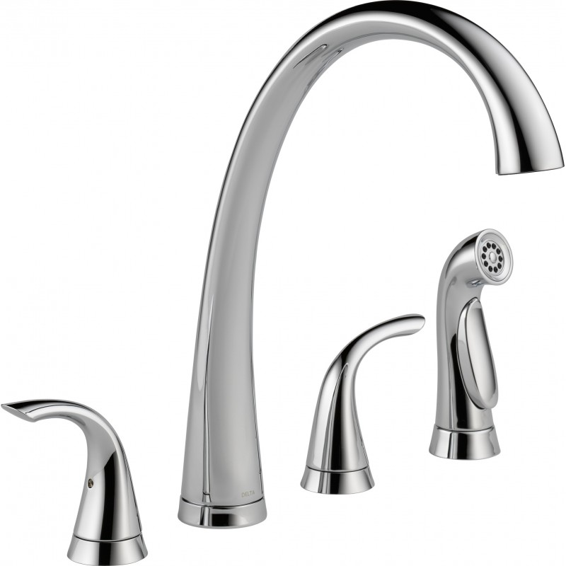 Buy Delta 2480 Dst Two Handle Widespread Kitchen Faucet