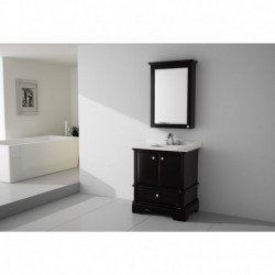 Virta 30 Inch CHARM Solid Wood Floor Mount Vanity at Kolani