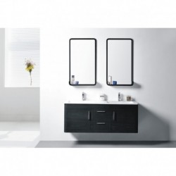 Virta 60 Inch OASIS Solid Wood Wall Mount Vanity with Handle
