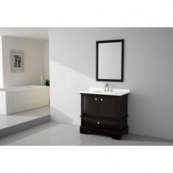Virta 36 Inch CHARM Solid Wood Floor Mount Vanity with Crystal Knob