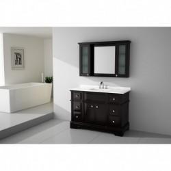 Virta 48 Inch CHARM Solid Wood Floor Mount Vanity with Crystal Knob