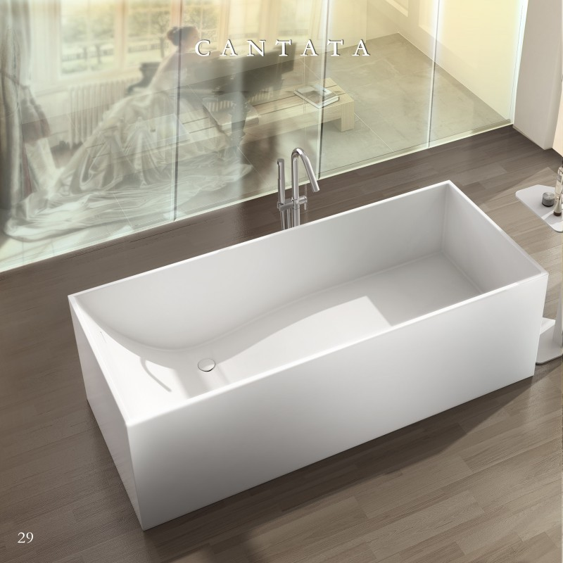 Buy virta cantata free standing stone bathtub at discount for Cheap free standing tubs