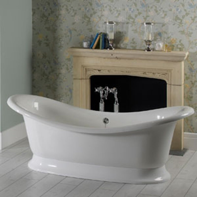 Buy Victoria Albert Marlborough Dual Ended Tub And White