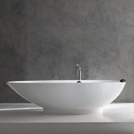 Victoria + Albert Napoli Freestanding Egg-Shaped Tub On Right Side