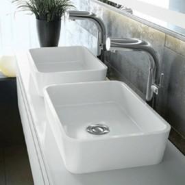 Victoria + Albert VB-EDG-45 Edge 45 Rounded Rectangle Vessel Lavatory Sink