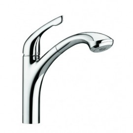 Hansgrohe 04076-1 Allegro Single Hole Kitchen Faucet Low Flow
