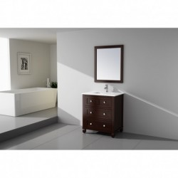 Virta 28 Inch HAMPTON Solid Wood Mirror