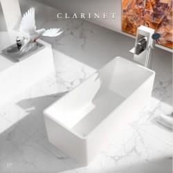 Virta Clarinet Free Standing Stone Bathtub