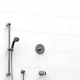Riobel KIT1223FMC-43 0.5 2-way Type TP thermostaticpressure balance coaxial system with spout and hand shower rail