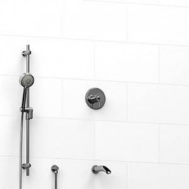 Riobel KIT1223ATOP 0.5 2-way Type TP thermostaticpressure balance coaxial system with spout and hand shower rail