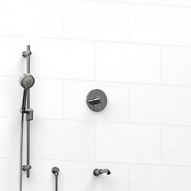 Riobel KIT1223PATM 0.5 2-way Type TP thermostaticpressure balance coaxial system with spout and hand shower rail