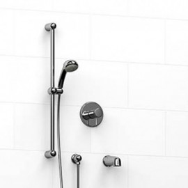 Riobel KIT1223PR 0.5 2-way Type TP thermostaticpressure balance coaxial system with spout and hand shower rail
