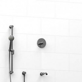 Riobel KIT1223RUTM 0.5 2-way Type TP thermostaticpressure balance coaxial system with spout and hand shower rail
