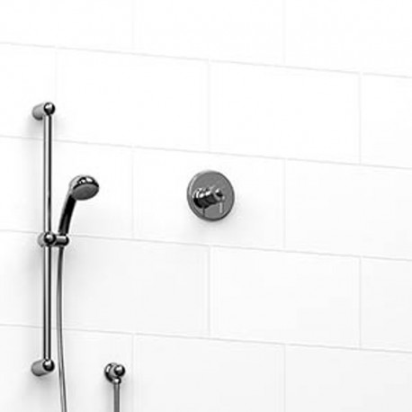 Riobel KIT123AT 0.5 2-way Type TP thermostaticpressure balance coaxial system with hand shower rail