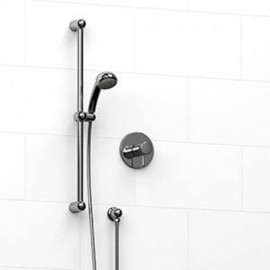 Riobel KIT123FI 0.5 2-way Type TP thermostaticpressure balance coaxial system with hand shower rail