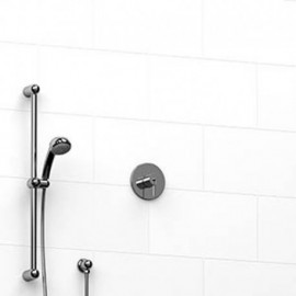 Riobel KIT123FM 0.5 2-way Type TP thermostaticpressure balance coaxial system with hand shower rail