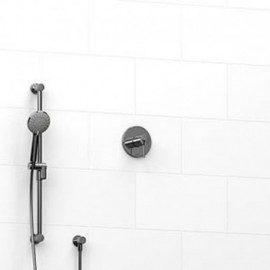 Riobel KIT123GS 0.5 2-way Type TP thermostaticpressure balance coaxial system with hand shower rail