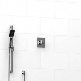 Riobel KIT123KSTQ 0.5 2-way Type TP thermostaticpressure balance coaxial system with hand shower rail