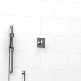 Riobel KIT123MZ 0.5 2-way Type TP thermostaticpressure balance coaxial system with hand shower rail