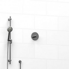 Riobel KIT123PATM 0.5 2-way Type TP thermostaticpressure balance coaxial system with hand shower rail