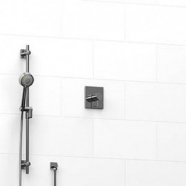 Riobel KIT123PATQ 0.5 2-way Type TP thermostaticpressure balance coaxial system with hand shower rail