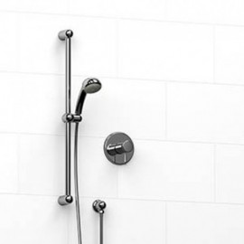 Riobel KIT123PR 0.5 2-way Type TP thermostaticpressure balance coaxial system with hand shower rail