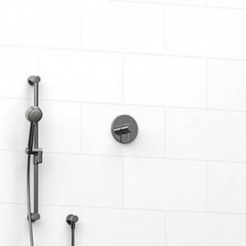 Riobel KIT123RUTM 0.5 2-way Type TP thermostaticpressure balance coaxial system with hand shower rail