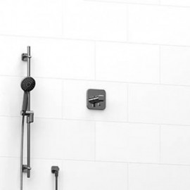 Riobel KIT123SA 0.5 2-way Type TP thermostaticpressure balance coaxial system with hand shower rail