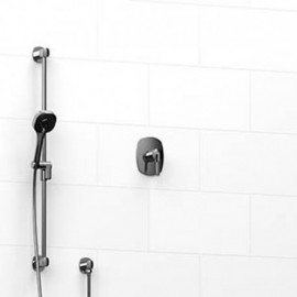 Riobel KIT123VY 0.5 2-way Type TP thermostaticpressure balance coaxial system with hand shower rail