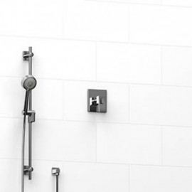 Riobel KIT123ZOTQ 0.5 2-way Type TP thermostaticpressure balance coaxial system with hand shower rail