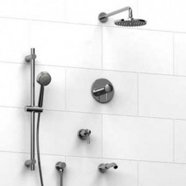 Riobel KIT1343EDTML Type TP thermostaticpressure balance 0.5 coaxial system with hand shower rail shower head tub spout and 3...