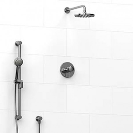 Riobel Edge KIT323EDTM Type TP thermostaticpressure balance 0.5 coaxial 2-way system with hand shower and shower head