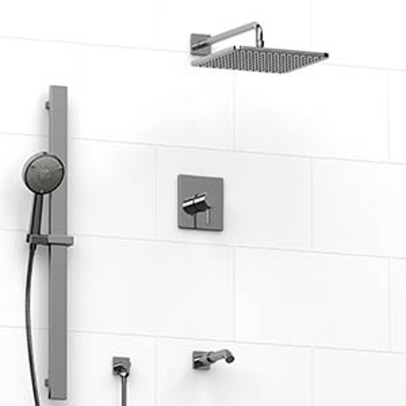 Riobel KIT5245 Type TP Thermostaticpressure Balance 0.5 Coaxial 3 Way  System With Hand Shower Rail ...