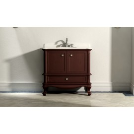Virta 36 Inch MADERA Solid Wood Floor Mount Vanity