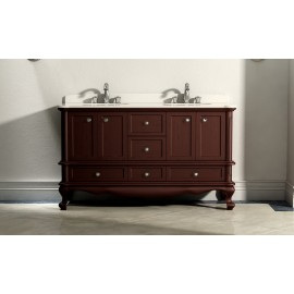 Virta 60 Inch MADERA Solid Wood Floor Mount Vanity