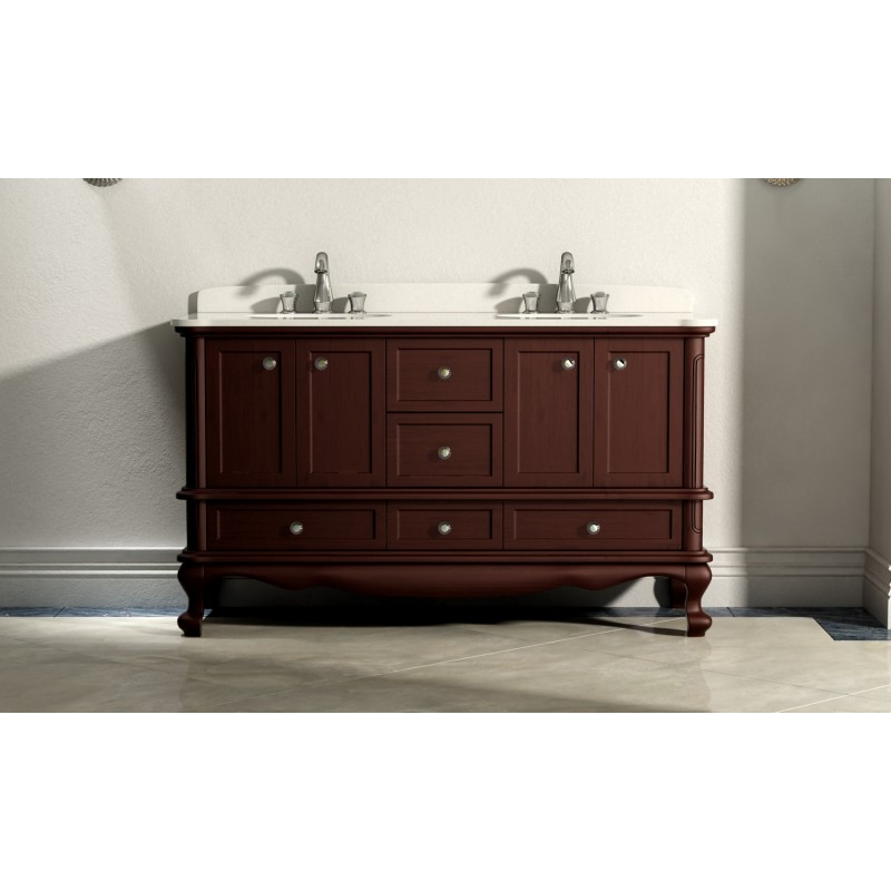 Buy Virta 60 Inch Madera Solid Wood Floor Mount Vanity At