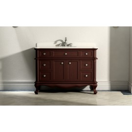 Virta 48 Inch MADERA Solid Wood Floor Mount Vanity