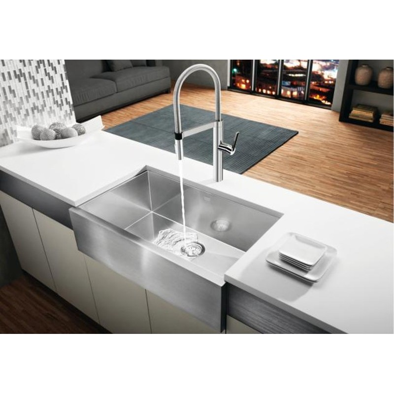 Bib Sink : Buy Blanco Precision U Super Single Apron SS Sink at Discount Price at ...
