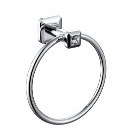 Lluvia Towel Ring Square With Crystal - TR02S