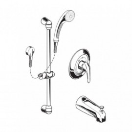 American Standard Commercial Shower System - 1662225