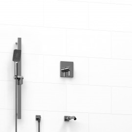 Riobel KIT1223PFTQ 0.5 2-way Type TP thermostaticpressure balance coaxial system with spout and hand shower rail
