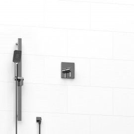 Riobel KIT123PFTQ 0.5 2-way Type TP thermostaticpressure balance coaxial system with hand shower rail