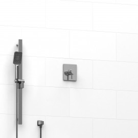 Riobel KIT123PXTM 0.5 2-way Type TP thermostaticpressure balance coaxial system with hand shower rail