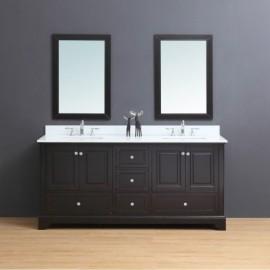Virta 72 Inch Dalia Floor Mount Double Sink Vanity