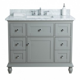 Virta 42 Inch Yasmine Floor Mount Single Sink Vanity