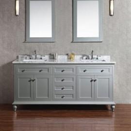 Virta 72 Inch Yasmine Floor Mount Double Sink Vanity
