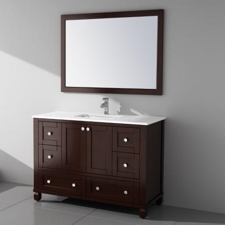 Buy Virta 48 Inch Hampton Solid Wood Floor Mount Vanity At