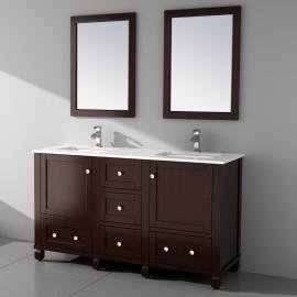 Virta 60 Inch Hampton Floor Mount Double Sink Vanity